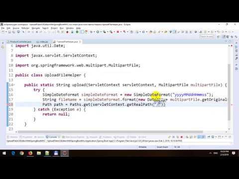 Upload File in CKEditor in Spring MVC in Spring Boot