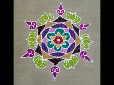 simple rangoli designs/easy rangoli designs with colour/festival rangoli/Innovative rangoli designsI