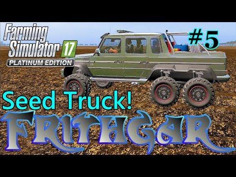 Let's Play Farming Simulator 17, Broadacres 16x Map #5: Seed Truck!