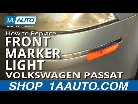 How To Install Replace Front Marker Light Volkswagen Passat 02-05 1AAuto.com