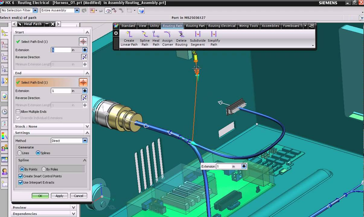 5. NX electrical routing: Update formboard - YouTube