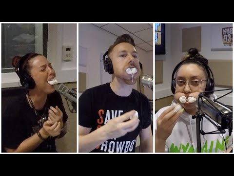 The Wake Up Show - Tap Out Challenge: Chubby Bunny (Easter Edition)