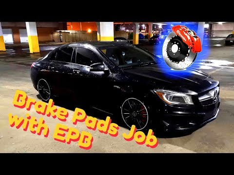 🇩🇪 Mercedes Benz Brake Pads Replacement | CL, CLA, CLS, E, G, GL, GLA, GLE, ML, GLS, S, SL | EPB