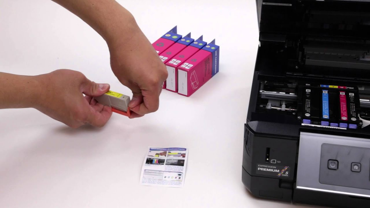 how to install t273xl series patible ink cartridges with