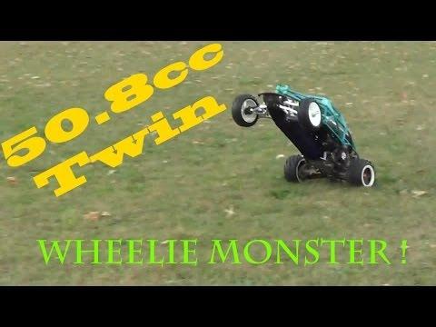HPI Baja 5T 50.8cc Bartolone Racing TWIN Engine Wheelie MONSTER !