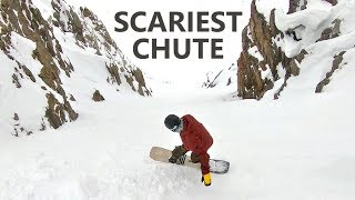 THE SCARIEST CHUTE SNOWBOARDING IN AUSTRIA