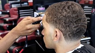 HAIRCUT TUTORIAL: TRANSFORMATION AFRO TO 360 WAVES TAPER