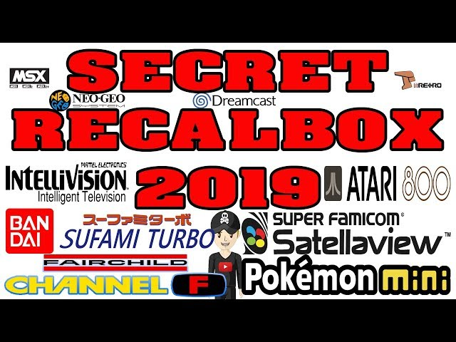SECRET RECALBOX GAME CONSOLE 7 NEW SYSTEMS FULL SET ROMS SCRAPED