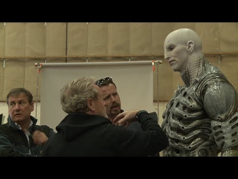 Prometheus Making, Behind The Scenes Part 1 / Prometejs Uznemsana Filmesana, 1 dala