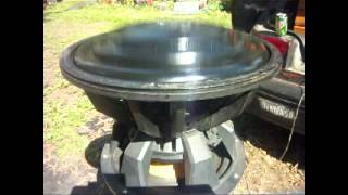 Bs5 V2 15'' subwoofer testing Excursion ! must see this ! 6'' Xmax huge custom made subwoofer