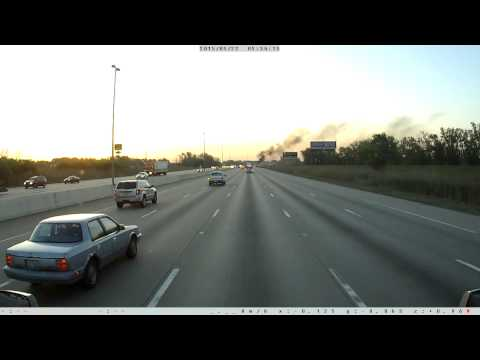 Tanker caught on fire on I 80-94 Indiana