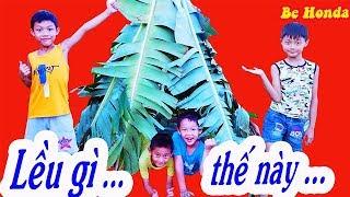 Dựng lều - Dựng lều King Kong bằng lá chuối | King Kong Atent