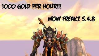 WoW Freakz MoP Gold guide 1000 gold per hour!