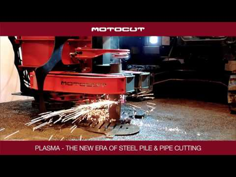 MotoCut cutting steel piles and pipes with plasma