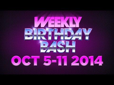 Celebrity Actor Birthdays - October 5-11, 2014 HD