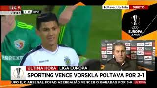 2 Jornada Liga Europa 2018/19 Vorskla 1 x 2 Sporting Cp