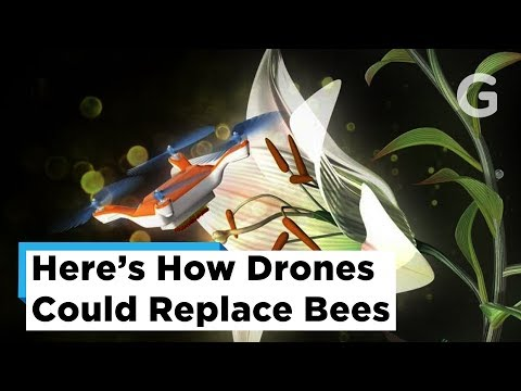 Pollinating with Drones