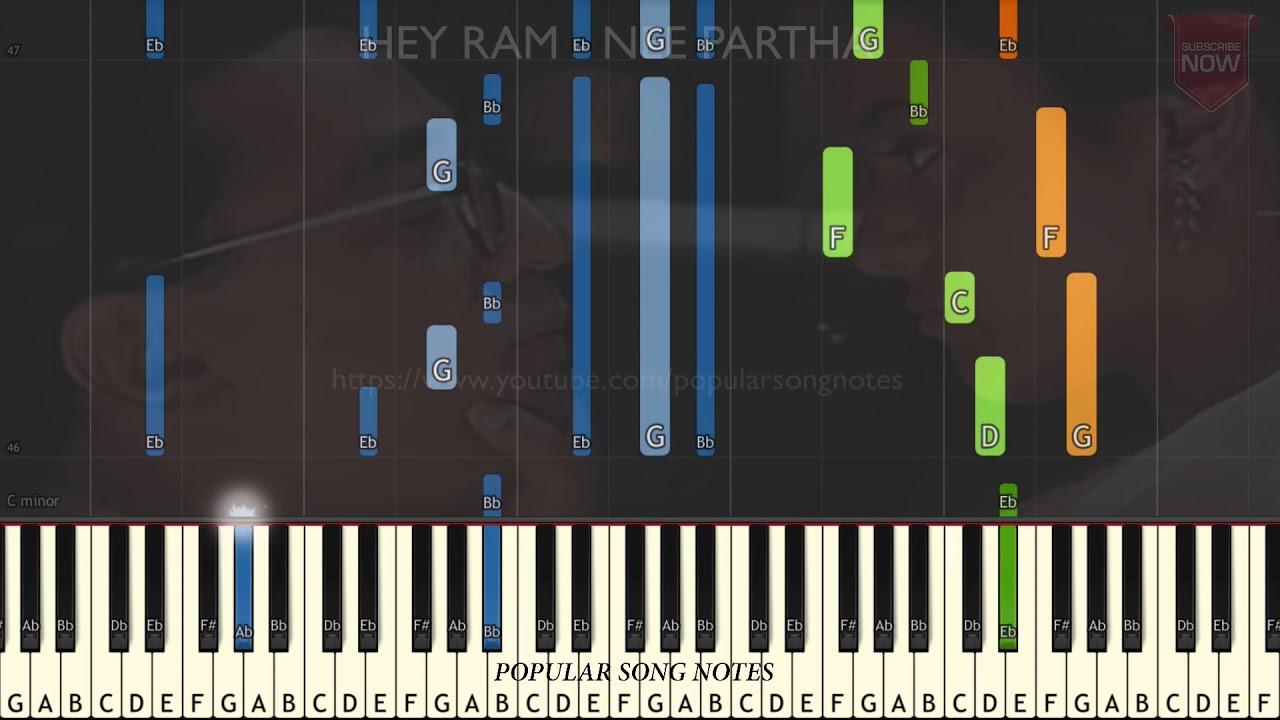 HEY RAM - NEE PARTHA (EASY TO PLAY)