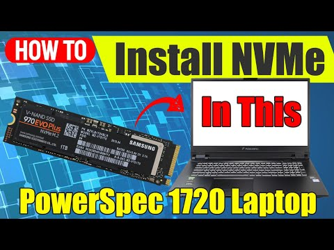 Installing A NVMe SSD In The PowerSpec 1720 Laptop