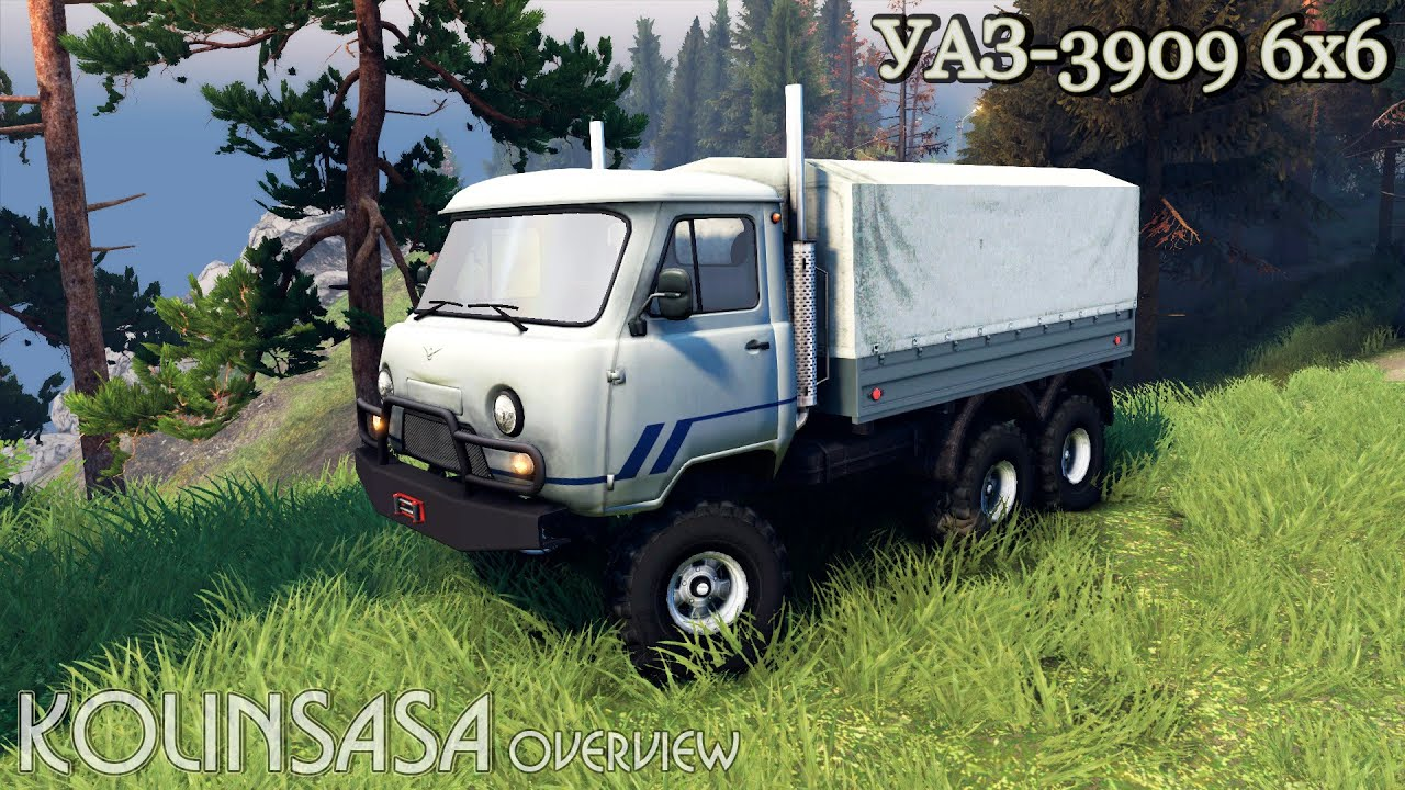 Spintires 2014 - УАЗ-3909 6x6 - YouTube