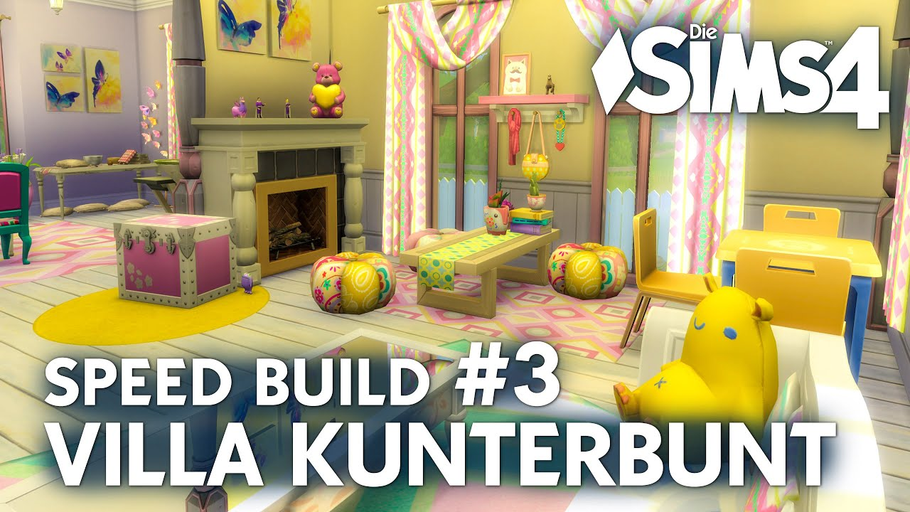 Die Sims 4 Villa Kunterbunt Speed Build 3