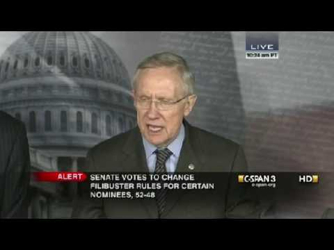 FLASHBACK Harry Reid  Filibuster Should Only Be Used For Impeachment And Treaties