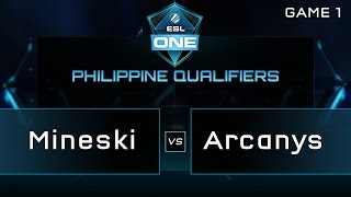 Repeat youtube video Mineski vs Arcanys - ESL One Manila PH Qualifiers - Game 1