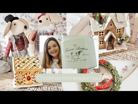 Christmas decor shopping and homeware haul