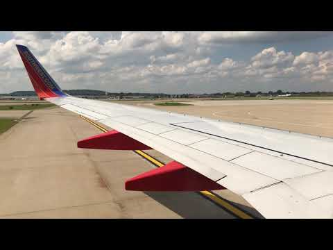 Southwest Airlines 737-700 Takeoff From Louisville International Airport