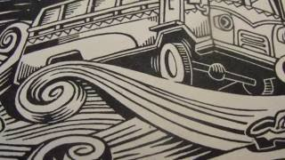 relief printing lino-cut by Hassan Manasrah