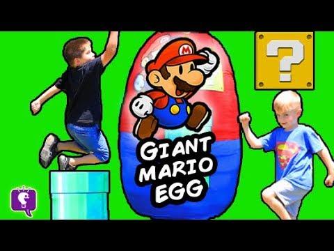 Giant SUPER MARIO Surprise Egg With Nintendo Toys