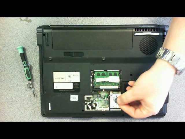 Laptop Repair - HP G6000 cmos battery replacement wmv - YouTube