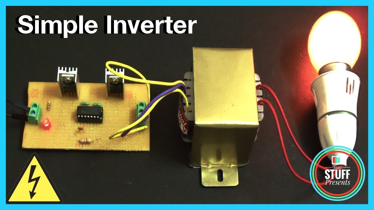 Ic Based Simple 12v To 240v Inverter Using Mosfet 4047 Homemade How Build A Power 100 Watt Circuit Make Stuff