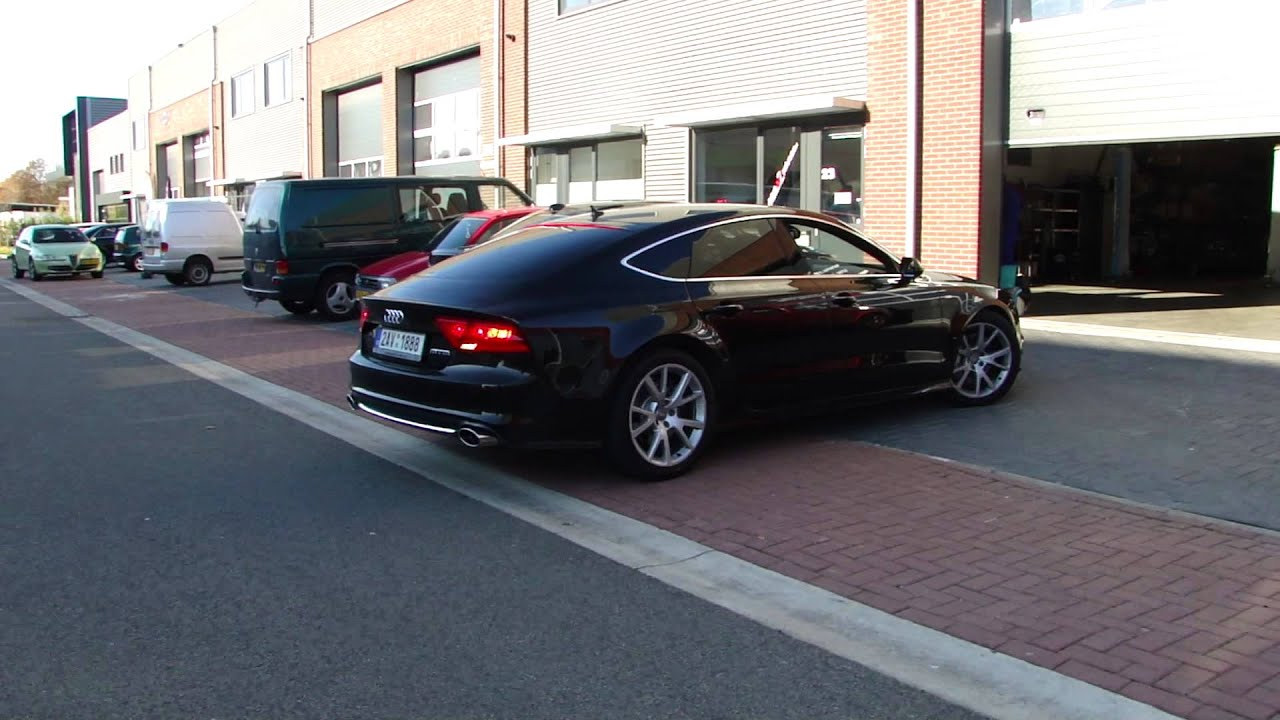 audi a7 3 0 tfsi sport exhaust system nice sound by. Black Bedroom Furniture Sets. Home Design Ideas