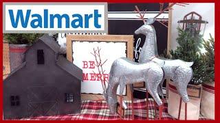 WALMART FARMHOUSE CHRISTMAS DECOR | WREATHS TREE TOPPERS & TREE SKIRTS