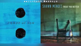 Shape of You vs. Treat You Better (Mashup) - Ed Sheeran & Shawn Mendes - earlvin14 (OFFICIAL)