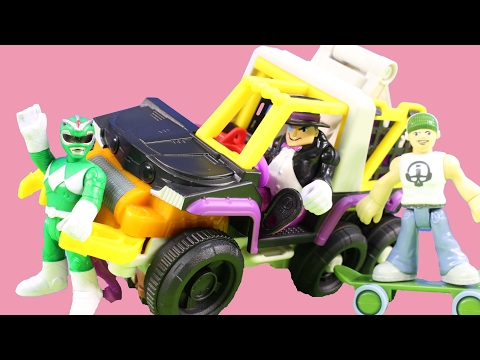 Imaginext Penguin Shows Off New 6 Wheeler Toy And Captures Power Rangers For Joker