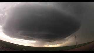 INSANE supercell time-lapse from Badlands of South Dakota - May 25, 2013