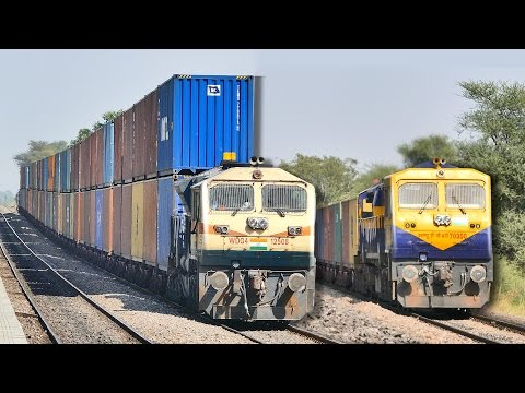 Thumbnail: Single vs DOUBLE Stack CONTAINER Train : Indian Railways