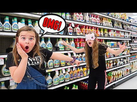 Buying EVERYTHING I Touch Blindfolded for SLIME INGREDIENTS! | JKrew