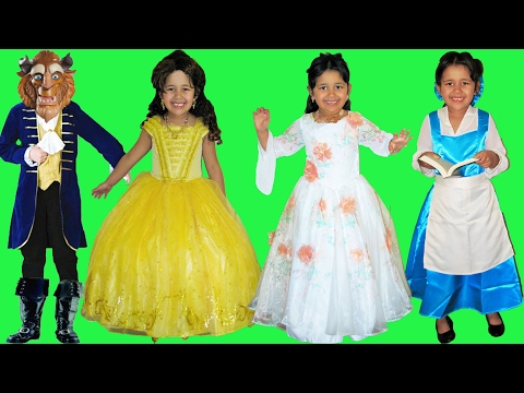 7 Halloween Costumes Disney Princess Belle and Beast from Beauty and the Beast Movie