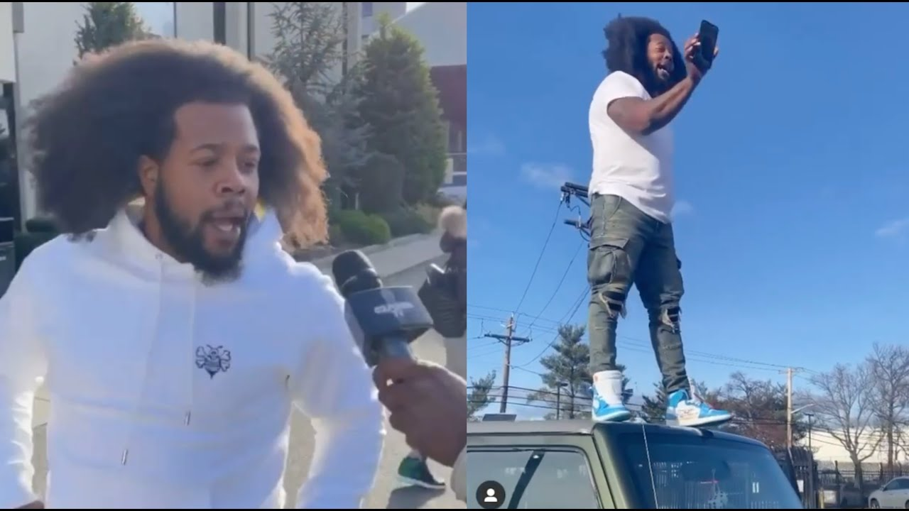 "The Real King Of NY Back"" Rowdy Rebel Almost Breaks Homies Jeep Wildn Out  On Hood - YouTube"
