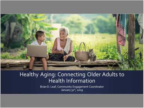 SCR Teaching Webinar - Healthy Aging (January 31, 2019)