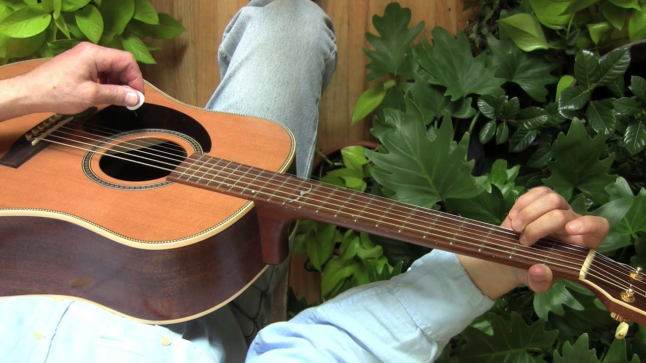 one finger guitar chords for left handed beginners youtube