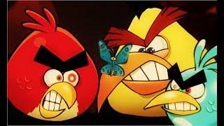 Энгри Бердс #2 ЗЛЫЕ ПТИЧКИ  Мультик ИГРА про мультфильм о борьбе птичек со свинками  Аngry Birds