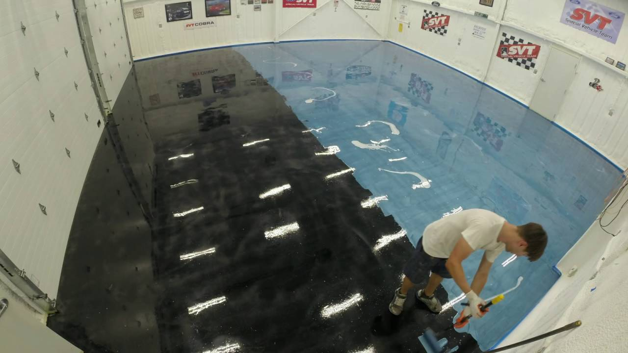 Garage Floor Metallic Epoxy Time Lapse Youtube