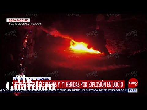 Aerial footage shows scale of Mexico fire after pipeline explosion
