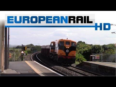 Iarnród Éireann Irish Rail 071 Locomotive 071 + Tara Mines wagons pass Laytown Station