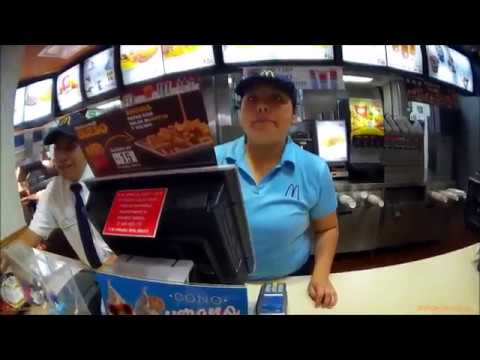 A Visit To McDonald's In México Buying Food In Puebla