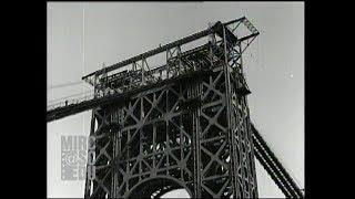 The Great Grey Bridge: the George Washington Bridge Under Construction, 1929